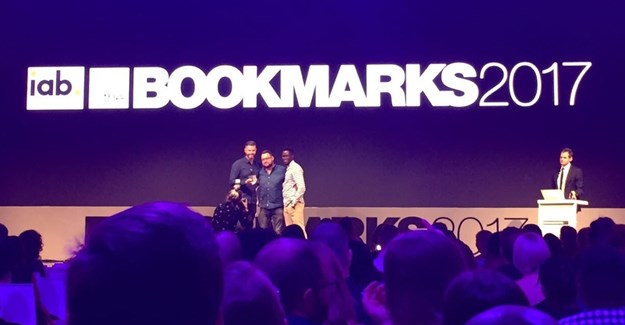 Team Hellocomputer on the Bookmarks 2017 stage.