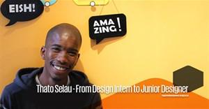 Thato Selau - From design intern to junior designer