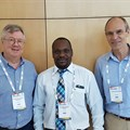 Professor Magnus Knebel von Doeberitz, medical director, University of Heidelberg, Dr Omenge Orango'o, Moi University Nairobi and Dr Gilbert Saggia, SAP Africa's managing director: East Africa