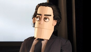 Murray in puppet form.