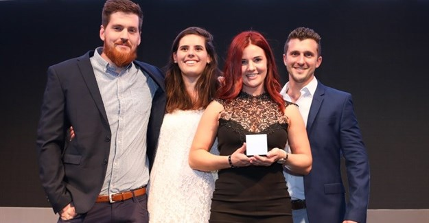 The Saatchi Synergize paid search team on stage at the Bookmarks 2017.
