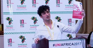 Professor Mark Graham, 4th UNI Africa Conference in Dakar, Senegal. Credit: UNI Africa.