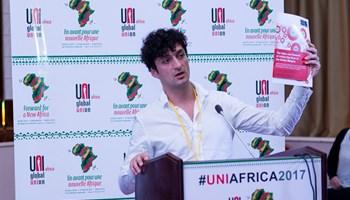 Professor Mark Graham, 4th UNI Africa Conference in Dakar, Senegal. Credit: UNI Africa.
