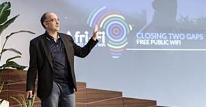 Tim Genders (South Africa) presenting Afri-Fi: Free Public Wi-Fi.