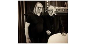 Stapleton with Keith Reinhard, chairman emeritus of DDB.