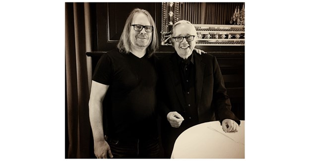 Stapleton with Keith Reinhard, chairman emeritus of DDB.