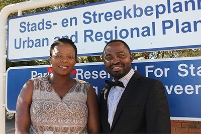 Dr Thulisile Mphambukeli and Dr Victor Okorie from the Department of Urban and Regional Planning at the University of the Free State. Photo: Rulanzen Martin