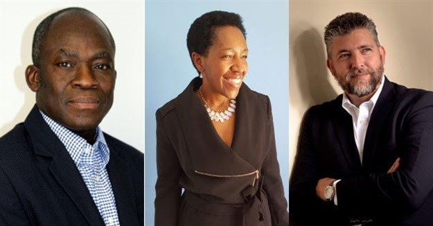 L-R: Dr Adebayo Fayoyin, Nelly Mofokeng, and Allon Raiz