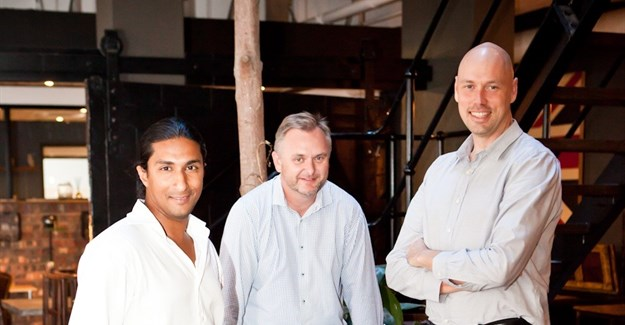 Startupbootcamp team Zachariah George, Paul Nel, and Philip Kiracofe