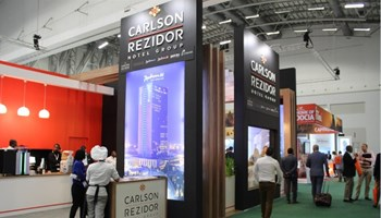 The Carlson Rezidor stand at World Travel Market Africa 2017