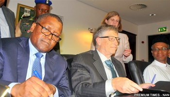 Aliko Dangote and Bill Gates. Source: