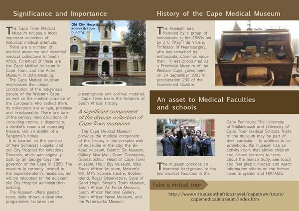 Medical Museum - Bi-fold Brochure back