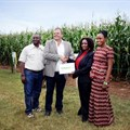 L-R: Paul Kapapula (Head of Sales Syngenta Zambia), Ernest Myburgh (Head of Syngenta Zambia), Anafrida Bwenge (Feed the Future Division Chief USAID Zambia), Ndekazi Olive Kaluwa (Private Sector Development Specialist USAID Zambia)