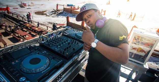 DJ Black Sparrow on the Corona Cooler Box Stage at Afriski Winterfest © Shawn van Zyl
