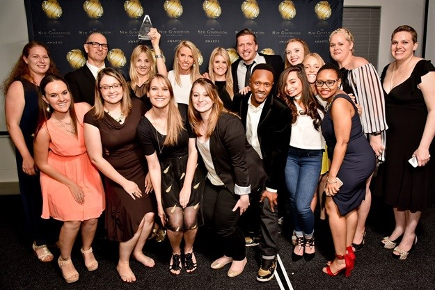 The G&G Digital team, when they won the 2016 Agency of the Year Award.