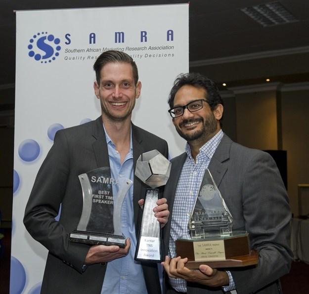 Last year's Samra award winners: Adhil Patel and Chris Davies