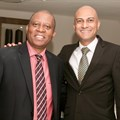 Executive mayor of the City of Johannesburg Councillor Herman Mashaba and SAPOA CEO Neil Gopal.