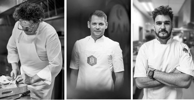 Good Food & Wine Show 2017 headline chefs: Marco Pierre White, Jan Hendrik van der Westhuizen and Joao Da Fonseca aka J'Something.