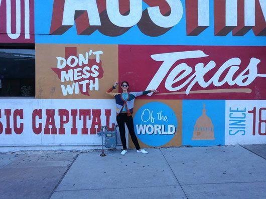 Dominique Swiegers at the 2017 SXSW festival in Texas.