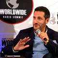 Jacaranda FM's GM, Kevin Fine, speaking at the Worldwide Radio Summit 2017 (Image provided)