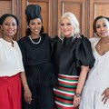(From the left) Khanyi Dhlomo (CEO Ndalo Media), June Ambrose (American Celebrity Stylist) and Anina Malherbe-Lan (Founder of VividLuxury) and Carol Bouwer (Founder and CEO, Carol Bouwer (CB) Productions.