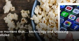 The moment that... technology and snacking collided