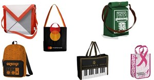 A selection of Sacatelle's branded bags.