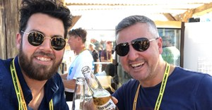 Cheers! Native VML ECD McManus with Pernod Ricard SA marketing director, Charl Bassil in Cannes.
