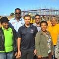 SMME's benefiting from Coega projects (L-R): Nandi Mpofu, Agnew Cabinets; Nolan Mathura, Ascon Civil Engineering; Laeeq Dolley, Rulasaqa Plumbing; Shaheed Nordien, YKW Projects; Thembisa Doda, Mothiscore; Luleka Ncomanzi, Ingakuhle Trading Enterprise; Nonyameko Maya, Ibhayi Achuma Trading