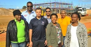 SMME's benefiting from Coega projects (L-R): Nandi Mpofu, Agnew Cabinets; Nolan Mathura, Ascon Civil Engineering; Laeeq Dolley, Rulasaqa Plumbing; Shaheed Nordien, YKW Projects; Thembisa Doda, Mothiscore; Luleka Ncomanzi, Ingakuhle Trading Enterprise; Nonyameko Maya, Ibhayi Achuma Trading