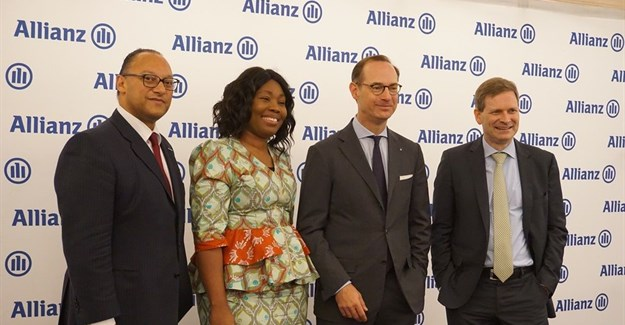 Andreas Berger, AGCS chief regions & markets officer; Delphine Traoré Maïdou, Allianz Africa COO; Oliver Bäte and Coenraad Vrolijk Allianz Africa CEO.
