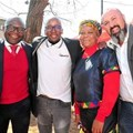 Oscar Siziba, Absa managing executive in Limpopo, Mpumalanga, Pretoria; Tshepo Seeta, eSpaza Sum managing director and founder; Anastasia Mathabathe, spaza owner and Tony Ferreira, operations director, Big Save.