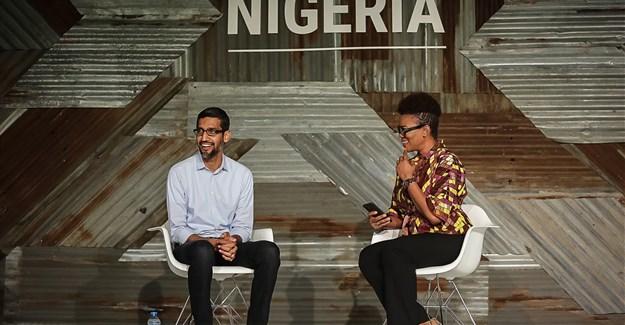 Sundar Pichai, Google CEO, at Google for Nigeria event in Lagos.