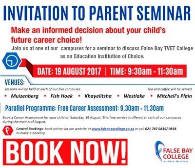 Invitation to parent seminar