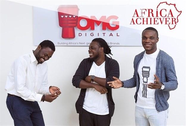 OMG Digital, Ghana, co-founders: Dominic Mensah, Prince Boakye Boampong and Jesse Arhin Ghansah.