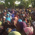 Children gathered in Niger. Credit: BBC.