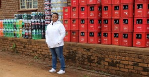 Verda Maluleka stands next to her stock at her LDP