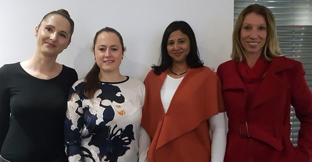 Frost, Sharman, Lalloo and Steingold at Popimedia's female-led profit-driven marketing event.