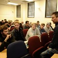 Nick Hoffman engaging with students