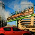 Outdoor Network's burning billboard keeps it legal