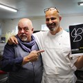 Pete Goffe-Wood from Masterchef fame, Franck Dangereux from the Noordhoek Food Barn