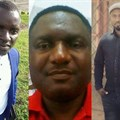 Cameroonian journalists released from prison: (from left) Atia Tilarious Azohnwi, Tim Finnian, and Hans Achomba (source: CPJ/family handouts).