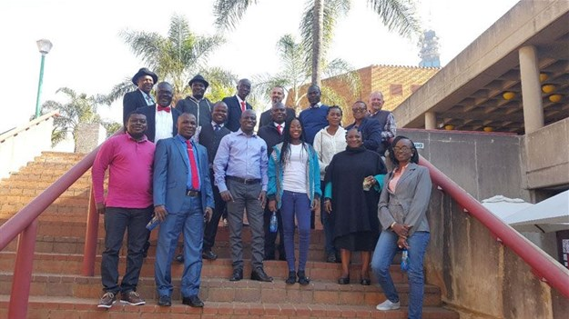 Nigerian delegation and the course lectures at the University of Pretoria's Groenkloof Campus