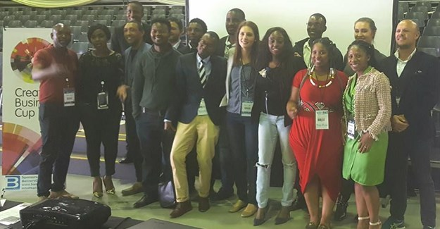 The finalists and judges at the inaugural Creative Business Cup South Africa.