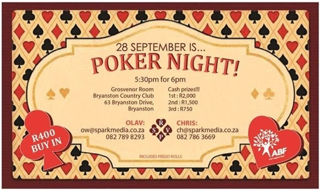 ABF hosts Poker Night on 28 September