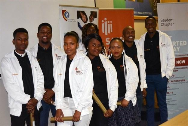 L-R: Zuko Hlanjwa: Vice Chairperson SABPP CUT, Neo Tlali, Kamohelo Molefe, Lindiwe Bosman, Fhatuwani Raliphaswa, Polo Sengoara, Sekoele Ramajoe: Chairperson SABPP CUT, and Mojalefa Alphonse.