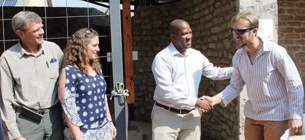 L - R: Danie Pienaar, Karen Vickers, Glenn Phillips, Drs Luthando Dziba and Laurence Kruger.