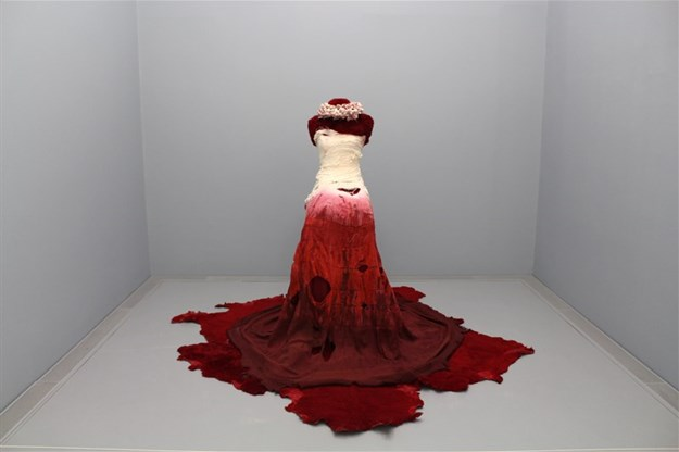 Kudzanai Chiurai in collaboration with Marianne Fassler - Untitled (Dress from Moyo)