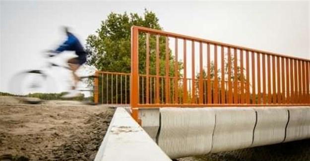 Dutch open 'world's first 3D-printed concrete bridge'