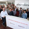 Playmakers win the Sponsorship Gold Award at the AMASA Awards